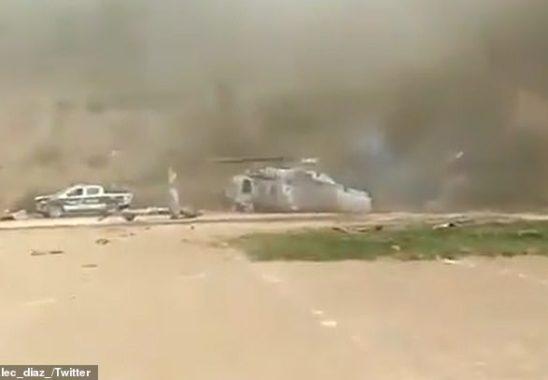 Meksikadaki Helikopter Kazası 1 Ölü (Video)