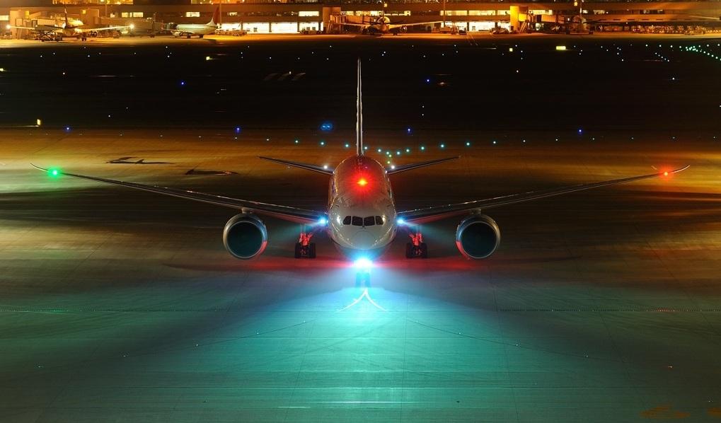 uçak ışıkları
