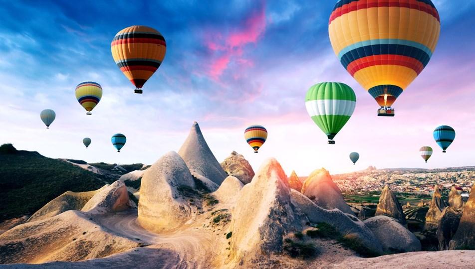 Pamukkale Balon Uçuşlarına Büyük İlgi